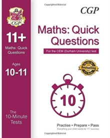 10-Minute Tests for 11+ Maths: Quick Questions Ages 10-11 - CEM Test, Paperback Book