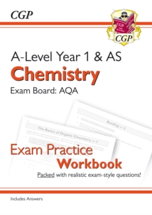 New A-Level Chemistry: AQA Year 1 & AS Exam Practice Workbook - includes Answers, Paperback / softback Book