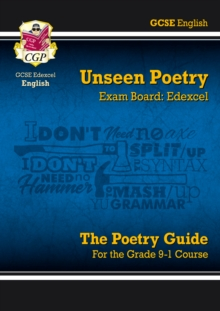 Grade 9-1 GCSE English Literature Edexcel Unseen Poetry Guide, Paperback / softback Book