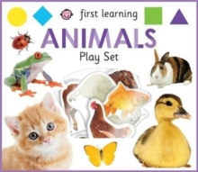 First Learning Animals Play Set, Hardback Book