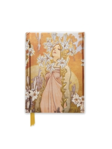 Alphonse Mucha The Flowers: Lily (Foiled Pocket Journal), Notebook / blank book Book