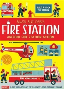 Busy Builders Fire Station, Hardback Book