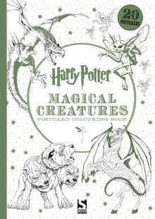 Harry Potter Magical Creatures Postcard Book : 20 postcards to colour, Paperback Book