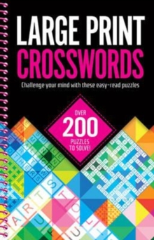 Large Print Crosswords, Spiral bound Book