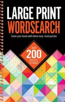 Large Print Wordsearches, Spiral bound Book