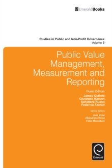 Public Value Management, Measurement and Reporting, Hardback Book