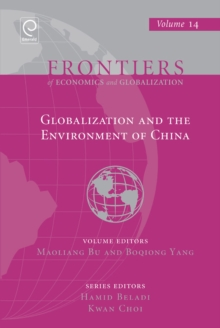 Globalization and the Environment of China, Hardback Book