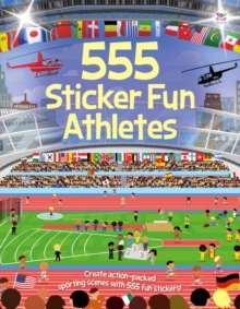 555 Sticker Fun Athletes, Paperback Book