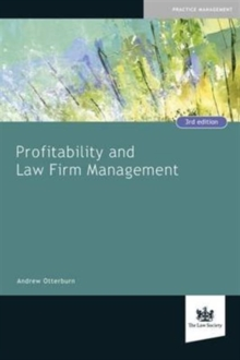 Profitability and Law Firm Management, Paperback Book