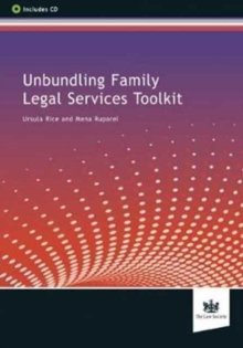 Unbundling Family Legal Services Toolkit, Mixed media product Book