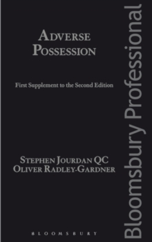 Adverse Possession: First Supplement to the Second Edition, Paperback Book