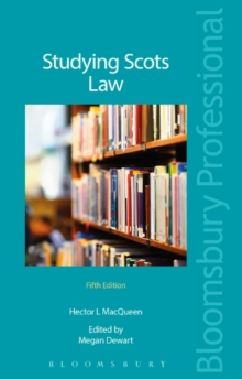 Studying Scots Law, Paperback Book