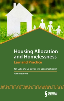 Housing Allocation and Homelessness : Law and Practice, Mixed media product Book