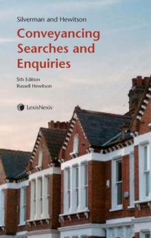 Silverman and Hewitson : Conveyancing Searches and Enquiries, Paperback / softback Book