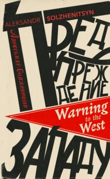 Warning to the West, Paperback / softback Book