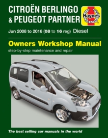 Citroen Berlingo & Peugeot Partner Diesel Owners Workshop Manual 2008-2016, Paperback Book