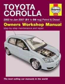 Toyota Corolla : (02 - Jan 07) 51 to 56, Paperback Book