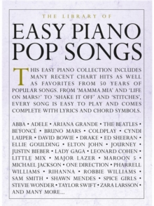 The Library Of Easy Piano Pop Songs, Paperback Book