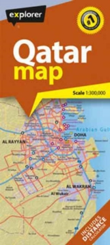 Qatar Country Map, Paperback Book