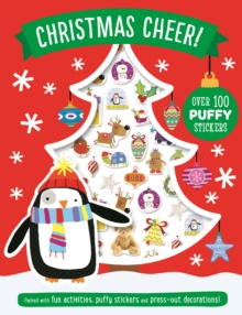 Christmas Cheer Puffy Sticker Book, Paperback Book