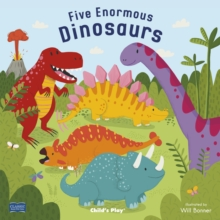 Five Enormous Dinosaurs, Board book Book