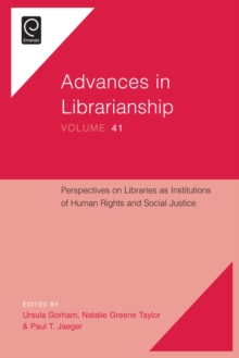 Perspectives on Libraries as Institutions of Human Rights and Social Justice, Hardback Book