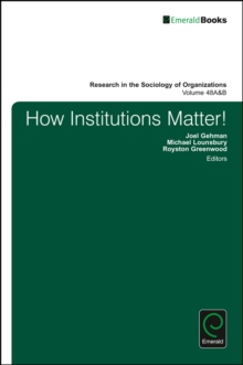 How Institutions Matter!, Hardback Book