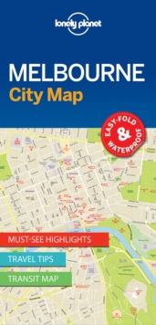 Lonely Planet Melbourne City Map, Sheet map, folded Book