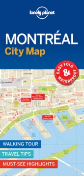 Lonely Planet Montreal City Map, Sheet map, folded Book