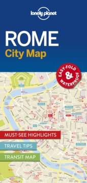 Lonely Planet Rome City Map, Sheet map Book