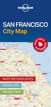 Lonely Planet San Francisco City Map, Sheet map, folded Book