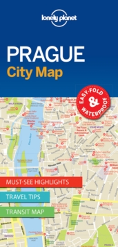 Lonely Planet Prague City Map, Sheet map, folded Book
