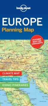 Lonely Planet Europe Planning Map, Sheet map, folded Book