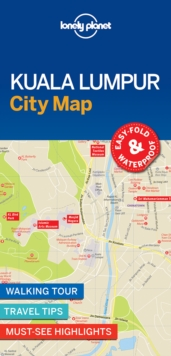 Lonely Planet Kuala Lumpur City Map, Sheet map, folded Book