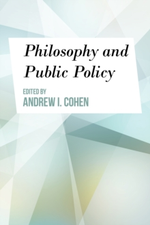 PHILOSOPHY & PUBLIC POLICY, Paperback Book