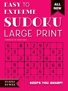 Easy to Extreme Sudoku Large Print (Pink) : Keeps You Sharp, Spiral bound Book