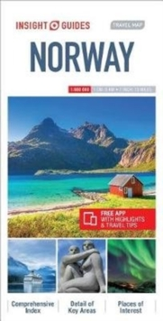 Insight Guides Travel Map Norway, Sheet map Book