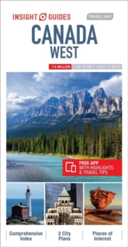 Insight Guides Travel Map Canada West, Sheet map Book