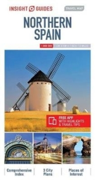 Insight Guides Travel Map of Northern Spain - Barcelona Map, Madrid Map, Sheet map Book