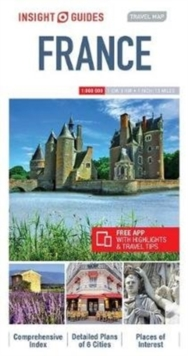 Insight Guides Travel Map France, Sheet map Book