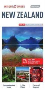 Insight Guides Travel Map New Zealand, Sheet map Book
