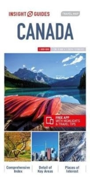 Insight Guides Travel Map Canada, Sheet map Book
