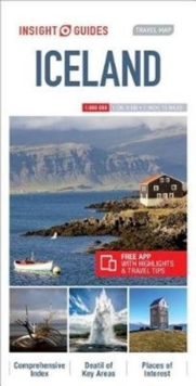 Insight Guides Travel Map Iceland, Sheet map Book