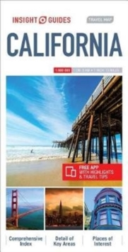 Insight Guides Travel Map California, Sheet map Book