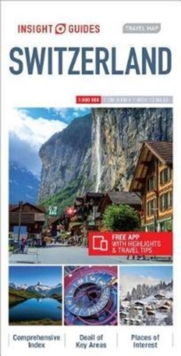 Insight Guides Travel Map Switzerland, Sheet map Book