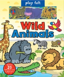 Play Felt Wild Animals, Hardback Book