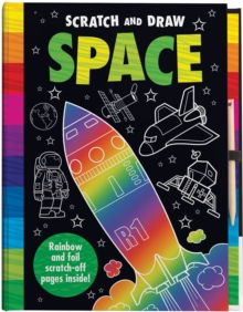 Scratch and Draw Space, Hardback Book