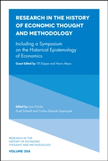 Including a Symposium on the Historical Epistemology of Economics, Hardback Book