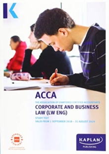 CORPORATE AND BUSINESS LAW (ENG) - Study Text, Paperback / softback Book