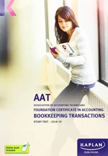 BOOKKEEPING TRANSACTION - STUDY TEXT, Paperback / softback Book